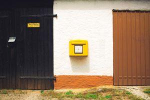 自宅の郵便ポスト